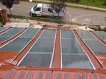 miniatura vista desde arriba del tejado captador solar